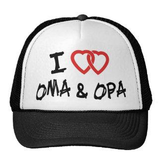 I Love My Oma & Opa Trucker Hat
