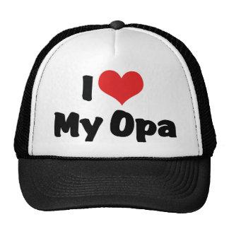 I Love My Opa Trucker Hat