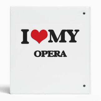 I Love My OPERA Vinyl Binder