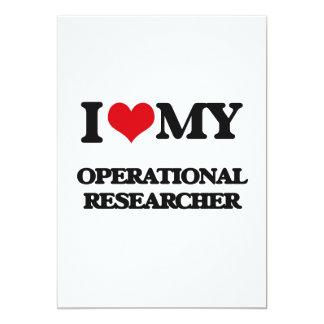 I love my Operational Researcher 5x7 Paper Invitation Card