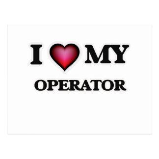 I love my Operator Postcard