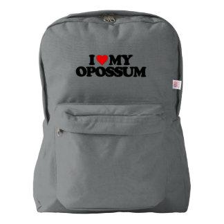 I LOVE MY OPOSSUM AMERICAN APPAREL™ BACKPACK