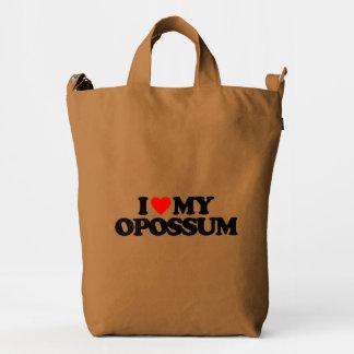 I LOVE MY OPOSSUM DUCK BAG