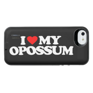 I LOVE MY OPOSSUM iPhone SE/5/5s BATTERY CASE