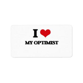 I Love My Optimist Address Label