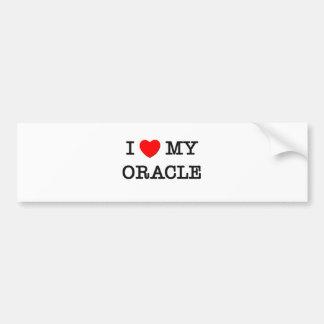 I Love My ORACLE Car Bumper Sticker