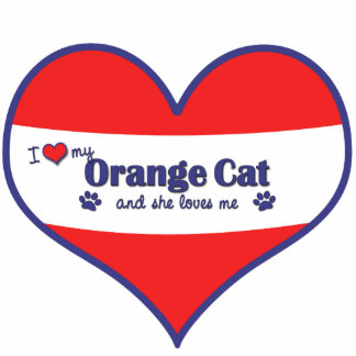 I Love My Orange Cat (Female Cat) Cutout