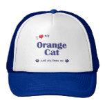 I Love My Orange Cat (Female Cat) Hat