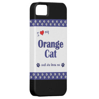 I Love My Orange Cat (Female Cat) iPhone SE/5/5s Case