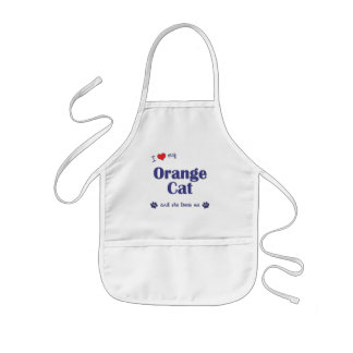 I Love My Orange Cat (Female Cat) Kids' Apron