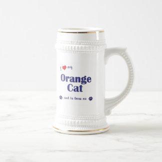 I Love My Orange Cat (Male Cat) Coffee Mug