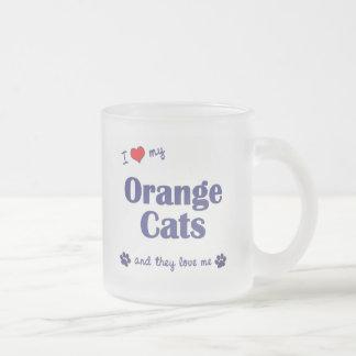 I Love My Orange Cats (Multiple Cats) Mugs