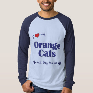 I Love My Orange Cats (Multiple Cats) T-Shirt