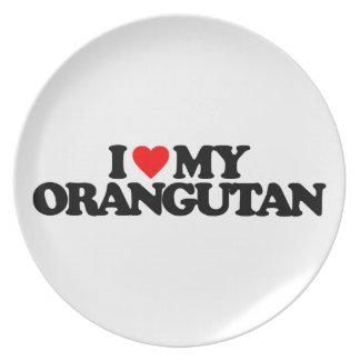 I LOVE MY ORANGUTAN PLATE