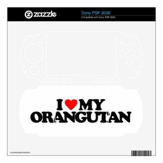 I LOVE MY ORANGUTAN SKIN FOR THE PSP 3000