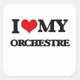 I Love My ORCHESTRE Square Sticker