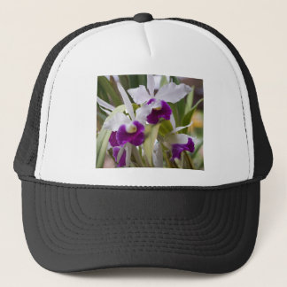 I love my orchids. trucker hat