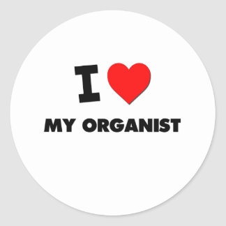 I love My Organist Stickers