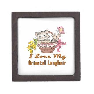 I Love My Oriental Longhair Gift Box