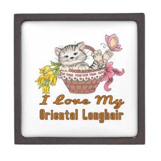 I Love My Oriental Longhair Keepsake Box