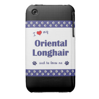 I Love My Oriental Longhair (Male Cat) iPhone 3 Case