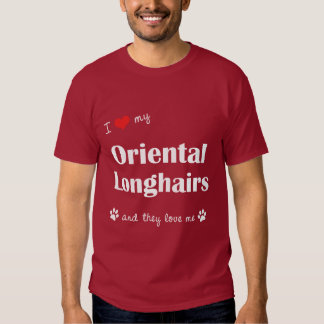 I Love My Oriental Longhairs (Multiple Cats) Shirt