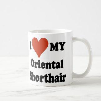 I Love My Oriental Shorthair Cat Merchandise Coffee Mug