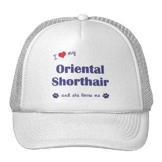 I Love My Oriental Shorthair (Female Cat) Trucker Hat