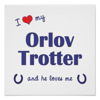 I Love My Orlov Trotter (Male Horse) Poster