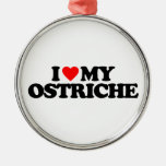 I LOVE MY OSTRICH CHRISTMAS TREE ORNAMENT
