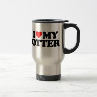 I LOVE MY OTTER 15 OZ STAINLESS STEEL TRAVEL MUG