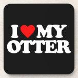 I LOVE MY OTTER COASTERS