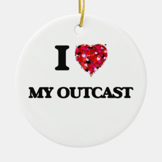 I Love My Outcast Double-Sided Ceramic Round Christmas Ornament
