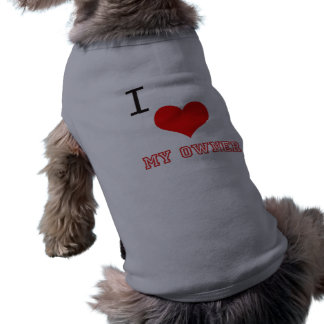 I love my owner dog ribbed tank tops doggie tee