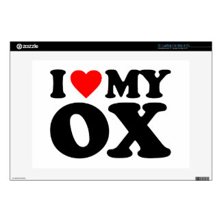 """I LOVE MY OX DECALS FOR 13"""" LAPTOPS"""