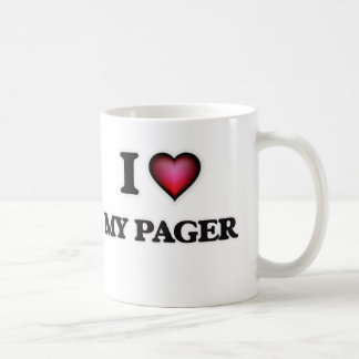 I Love My Pager Coffee Mug