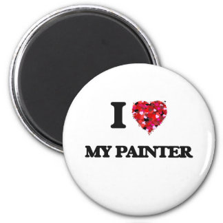 I Love My Painter 2 Inch Round Magnet