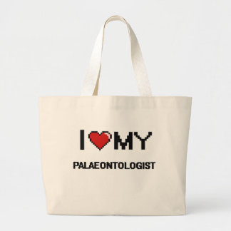 I love my Palaeontologist Jumbo Tote Bag