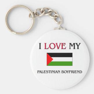 I Love My Palestinian Boyfriend Basic Round Button Keychain