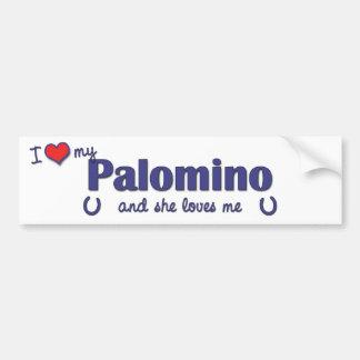 I Love My Palomino (Female Horse) Bumper Sticker