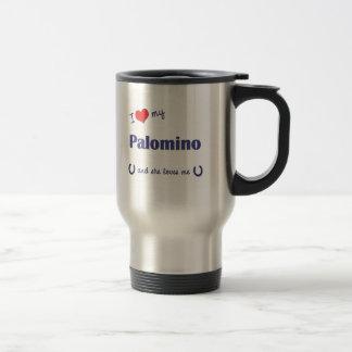 I Love My Palomino (Female Horse) Travel Mug