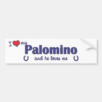I Love My Palomino (Male Horse) Bumper Stickers
