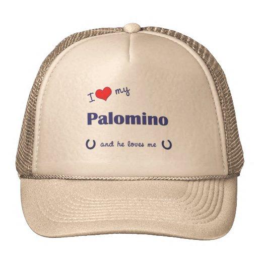 I Love My Palomino (Male Horse) Mesh Hats