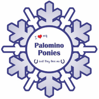 I Love My Palomino Ponies (Multiple Ponies) Photo Sculpture Ornament