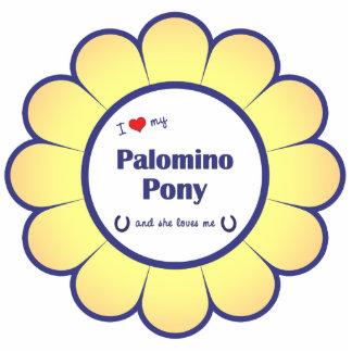 I Love My Palomino Pony (Female Pony) Photo Sculpture Ornament