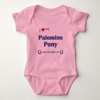 I Love My Palomino Pony (Female Pony) T Shirt