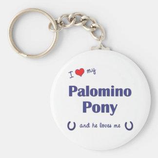 I Love My Palomino Pony (Male Pony) Basic Round Button Keychain