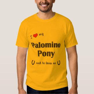 I Love My Palomino Pony (Male Pony) Tees