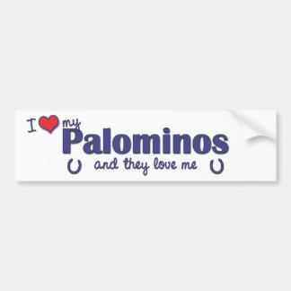 I Love My Palominos (Multiple Horses) Bumper Stickers
