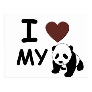 I LOVE MY PANDA BEAR POSTCARD
